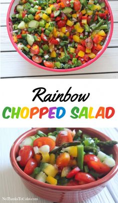 Rainbow Chopped Salad | No Thanks to Cake (Jenny Craig-Friendly)