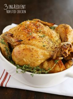 Thomas Keller [3-Ingredient] Roasted Chicken – So easy, crisp and juicy! No butter or oil. You'll be amazed at the ingredients!