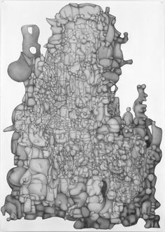 PAUL NOBLE Volume 6, 2007 Pencil on paper 39 3/8 x 27 5/8 inches unframed (100 x 70cm)