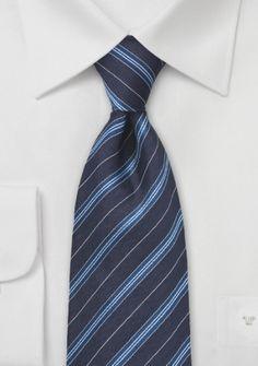 Krawatte Business-Linien dunkelblau