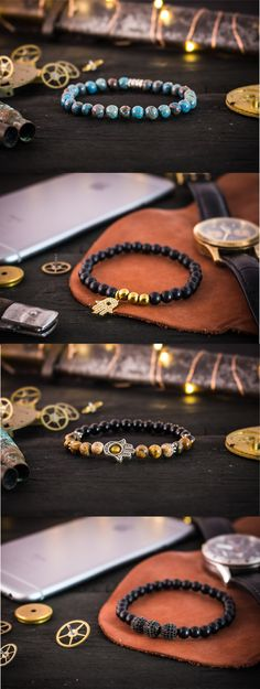 Selection of handmade quality mens bracelets #bracelet