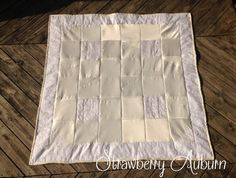 Wedding Dress Throw Quilt, Formal Dress Quilt, Upcycled Memory Quilt, Heirloom Quilt, Quilt made from your Dress