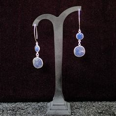 Shop for earrings on Etsy, the place to express your creativity through the buying and selling of handmade and vintage goods. Something Blue, Earrings Handmade, Hooks, Dangle Earrings, Dangles, Sapphire, Shape, Colour, Gemstones