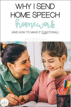Speech Therapy homework can be a big debate. In this article, ready why I send speech homework home and some FUNctional speech activities that I send home. Homework should be both fun and functional! Parents should also find it easy, simple to understand, and not take a long time. Click to read more!