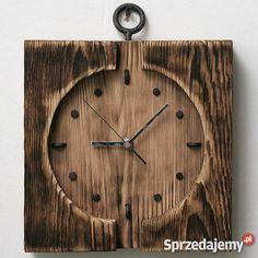 Zegar na desce sosnowej drewno Zegary Kościerzyna