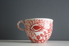 Porcelain Teacup with GOLD LUSTRE by Adriana Christianson