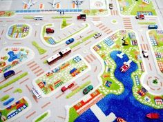 VI Interactive Play Rug - Mini City Large