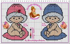 ♥♥ Cantinho da Artes-Silvana Artes♥♥ Xmas Cross Stitch, Just Cross Stitch, Beaded Cross Stitch, Cross Stitch Baby, Cross Stitch Charts, Cross Stitching, Cross Stitch Embroidery, Cross Stitch Patterns, Alpha Patterns