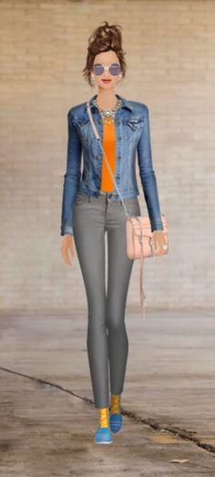 Covet Fashion Game-Challenge-Spring Coloured Denim