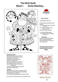 Wish Quilt-P.3-Block 1-Santa