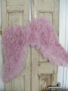 Pink Angel Wings to wear around the house