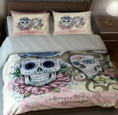 Sugar Skull Bedding Sugar Skulls Duvet Comforter Cover Set - My Sugar Skulls