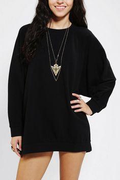 Sparkle & Fade Oversized Dolman Pullover Sweatshirt Back in Stock