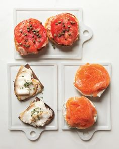 Choose Your Own Adventure: Breakfast options from Russ & Daughters. I'm always ready for lox and bagels! Brunch Recipes, Gourmet Recipes, Breakfast Recipes, Healthy Recipes, Breakfast Healthy, Health Breakfast, Think Food, Love Food, Lox And Bagels