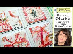 (1854) Gel Press - Brush Marks - part 2 - YouTube Fabric Painting, Painting & Drawing, Gelli Plate Printing, Gel Press, Gelli Arts, Mixed Media Scrapbooking, Art Journal Techniques, Art Journal Inspiration, Mail Art