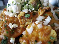 A closer look at the chilaquiles at 5th Street Bakehouse [now closed] in Reno.