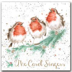 XB006 - The Carol Singers Christmas Box | Wrendale Designs