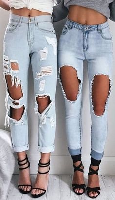 all distressed jeans