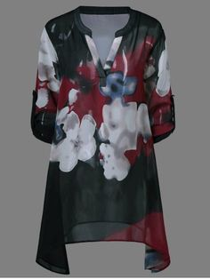 GET $50 NOW   Join RoseGal: Get YOUR $50 NOW!http://www.rosegal.com/blouses/ink-painting-floral-blouse-700725.html?seid=3185995rg700725