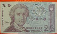 Croatian error banknote