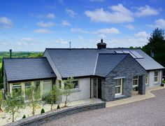 stoery and half houses ireland Modern Bungalow Exterior, Modern Bungalow House, Bungalow House Plans, New House Plans, Dormer House, Dormer Bungalow, Style At Home, Bungalow Haus Design, Bungalow Designs