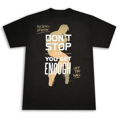 ad8c47e1 Amazon.com: Michael Jackson Don't Stop Til You Get Enough Black Graphic