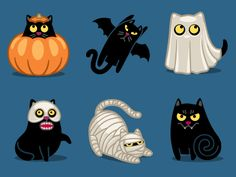 Dribbble - Halloween Cat by Denis Sazhin