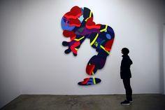 KAWS 'Imaginary Friends' Exhibition at Galerie Perrotin – Recap 3d Street Art, Street Art Graffiti, Graffiti Artists, Jersey City, Kaws Painting, New York Graffiti, Pop Art, Sidewalk Chalk Art, Culture Pop