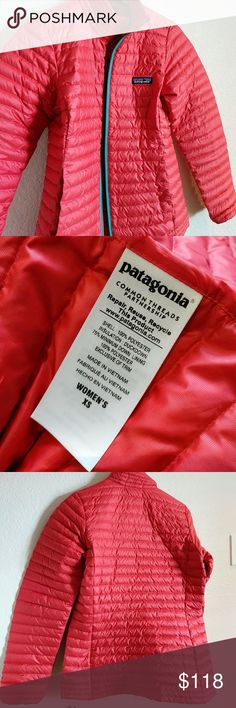 Patagonia  Light Down Jacket Patagonia T-Shirt Down Jacket in French Red color Patagonia Jackets & Coats Puffers
