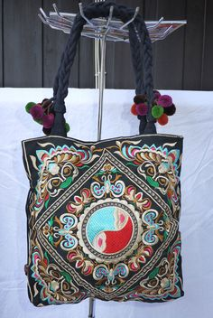 Thai Hmong tote purse bag Hmong Hilltribe by EthnicThaiBags, $18.99