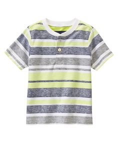 Striped Henley Tee at Gymboree