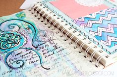 make your own calendar/planner from a blank sketchbook