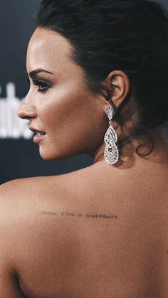 """I think we as a whole community can agree demi lovato should have her own spot at an art museum because such beauty deserves to and must be admired by everyone. it's a human right. Demi Lovato Tattoo, Cuerpo Demi Lovato, Demi Lovato Style, Demi Love, Survivor Tattoo, Piercings, Warrior Tattoos, Concert Fashion, Tattoo Ideas"