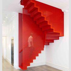 Czerwone schody - super!