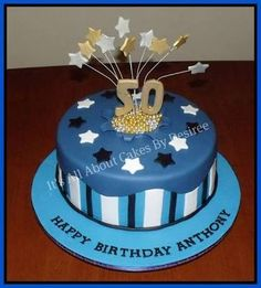 50th Birthday Cake Ideas 80th birthday parties Pinterest
