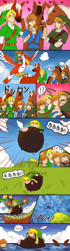 Sidekicks, The Legend of Zelda series artwork by Kitsune 23 Star.