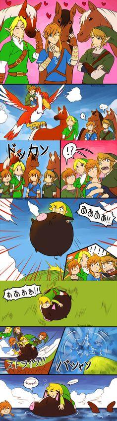Sidekicks, The Legend of Zelda series artwork by Kitsune 23 Star.