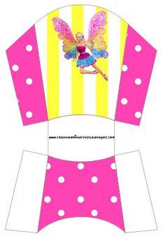 Cajitas imprimibles Barbie Fairytopia | Ideas y material gratis para fiestas y celebraciones Oh My Fiesta!