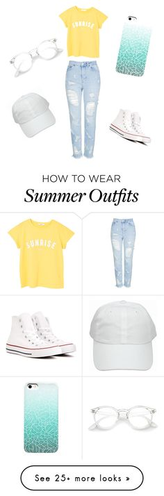 """""""Basic summer outfit ✨"""" by stephk104 on Polyvore featuring MANGO, Topshop and Converse"""