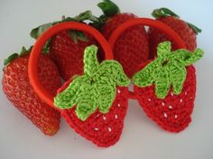 Could make strawberry hair pieces to give for birthday trinkets for the bday guests.  Just sew a strawberry patch from a JoAnn's or Micheal's store onto a red hair band/tie.