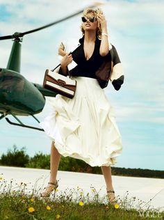 Kate Upton x Vogue US : Le supermodel qui savait sourire