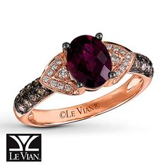 Le Vian Rhodolite Garnet 1/3 ct tw Diamonds 14K Gold Ring. I love this but I would like a ruby instead of garnet