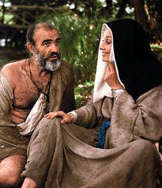 """Sean Connery y Audrey Hepburn en """"Robin y Marian"""" (Robin and Marian), 1976"""