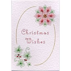 Stitching Cards Christmas Borders 6