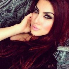 Makeup  hair color