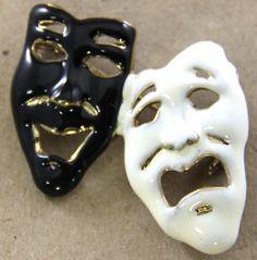 Comedy & Tragedy Pin