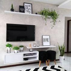 Home Room Design, Home Design Decor, Interior Design Living Room, Home Decor, Home Living Room, Living Room Decor, Living Room Tv Unit Designs, Ruang Tv, Fashion Bubbles