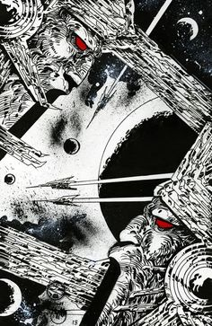 I MIEI SOGNI D'ANARCHIA - Calabria Anarchica: Druillet - Métal esquisses - Planche 18  Artist: P... Space Echo, Philippe, Monsters, Dreams, Manga, Comics, Abstract, Artwork, Character