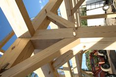 Timber frame joint - detail