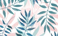 pastel-leaves desktop wallpaper designlovefest                                                                                                                                                                                 More